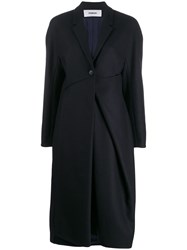 Chalayan Ruched Detail Coat Blue