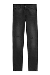 The Kooples Distressed Straight Leg Jeans Black