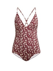 Dodo Bar Or Tata Floral Print Swimsuit Red Print