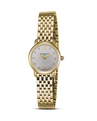 Frederique Constant 18K Gold Plated Stainless Steel Slim Line Quartz Watch 25Mm No Color
