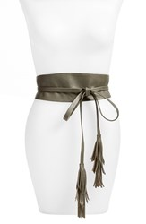Women's B Low The Belt 'Ana' Leather Tassel Obi Belt