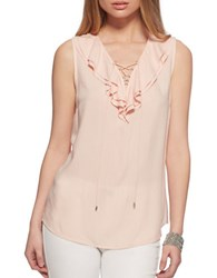 Jessica Simpson Jade Solid Sleeveless Top Orange