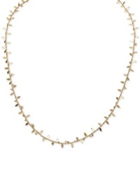Giani Bernini Embellished Chain Necklace In 24K Gold Over Sterling Silver Only At Macy's
