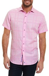 Robert Graham Men's Morley Sport Shirt Pink