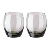 Versace Home Medusa Lumiere 2Nd Edition Whisky Tumblers Set Of 2 Haze