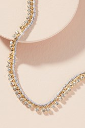 Anthropologie Rhinestone Choker Necklace Neutral