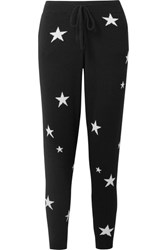 Chinti And Parker Star Cashmere Track Pants Black