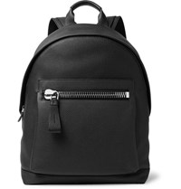 Tom Ford Buckley Pebble Grain Leather Backpack Black