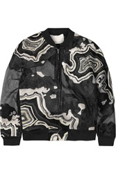 3.1 Phillip Lim Embroidered Chiffon Jacket Black