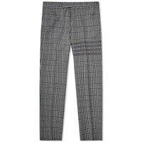 Thom Browne Prince Of Wales Four Bar Trouser Grey