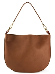 Avril Gau 'Trevise' Shoulder Bag Brown