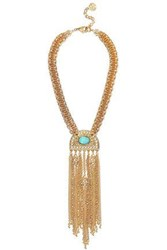 Ben Amun 24 Karat Gold Plated Stone Necklace Gold