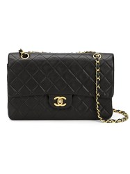 Chanel Vintage 'Classic 2.55' Shoulder Bag Black