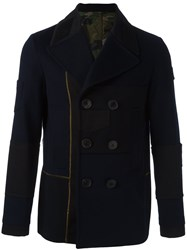 Valentino Double Breasted Peacoat Blue