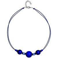 Martick Bon Bon Murano Glass Necklace Matte Blue