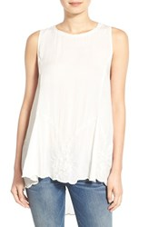 Junior Women's Sun And Shadow Embroidered Tank