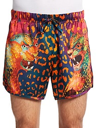 Versace Printed Silk Shorts Multi