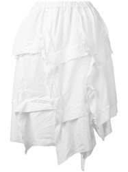 Comme Des Garcons Layered Skirt Women Polyester M White
