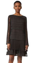 Jason Wu Long Sleeve Cocktail Dress Black