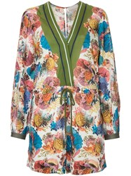 Ginger And Smart Submerge Floral Print Playsuit Multicolour