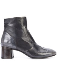 Silvano Sassetti Almond Toe Ankle Boots Women Leather 39.5 Black