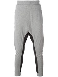 11 By Boris Bidjan Saberi Drop Crotch Track Pants Grey
