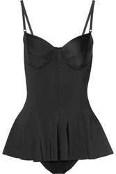 Norma Kamali Underwired Peplum Swimsuit Black