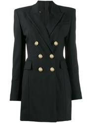 Balmain Double Breasted Blazer Dress Black