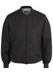 Y 3 Military Space Black Coated Cotton Jacket