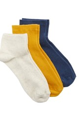 Treasure And Bond 3 Pack Favorite Ankle Socks Blue Denim Multi