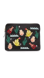 Lizzie Fortunato Safari Clutch Maritime Icon