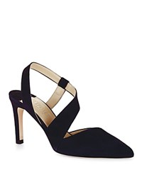 Hobbs London Eve Slingback Pointed Toe Pumps Navy