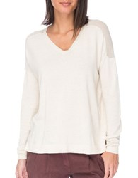 B Collection By Bobeau Drop Shoulder Sweater Ivory