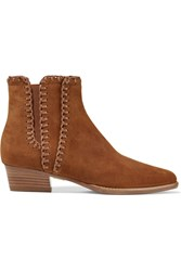 Michael Kors Presley Suede Ankle Boots Light Brown