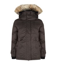 Nobis Luna Fur Trim Parka Female Grey