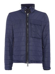 Duck And Cover Men's Outland Utility Quilted Jacket Navy