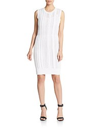 O'2nd Giverny Striped Sheath Dress White