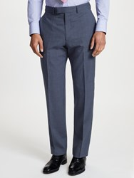 Chester Barrie By Prince Of Wales Check Suit Trousers Blue