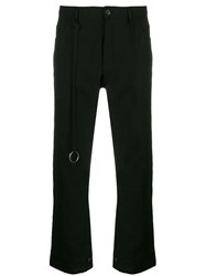 Ann Demeulemeester Cropped Flared Trousers Black