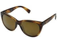 Kaenon Palisades Striped Tortoise Brown 12 Polarized Gold Mirror Sport Sunglasses