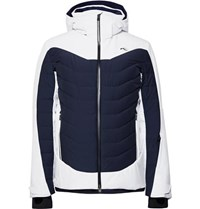 Kjus Sight Line Two Tone Quilted Down Ski Jacket White