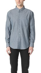 Naked And Famous Chambray Shirt Blue