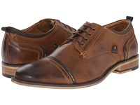 Steve Madden Jamyson Tan Leather Men's Lace Up Wing Tip Shoes