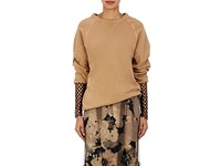 Dries Van Noten Women's Higgen French Terry Sweatshirt Brown