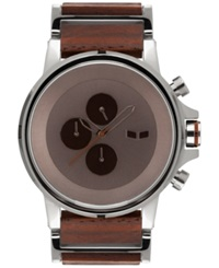 Vestal Men's Chronograph Genuine Wood And Stainless Steel Bracelet Watch 49Mm Plwcm001