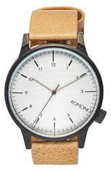 Komono Men's 'Winston Regal' Leather Strap Watch 42Mm