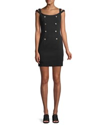 Bailey 44 Commissar Ponte Knit Sleeveless Mini Dress Black