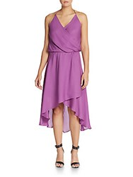 Haute Hippie Wrap Effect Silk Halter Dress Iris