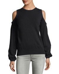 Collective Concepts Long Sleeve Cold Shoulder Sweater Black