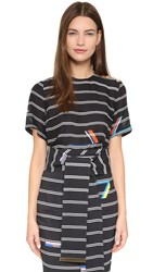 Preen Valetta Top Black Stripe
